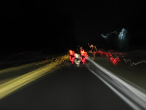 Blurry Road from a DUI